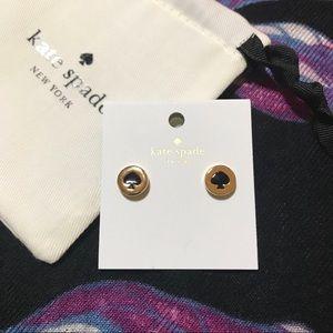 KSNY studs black spade earrings